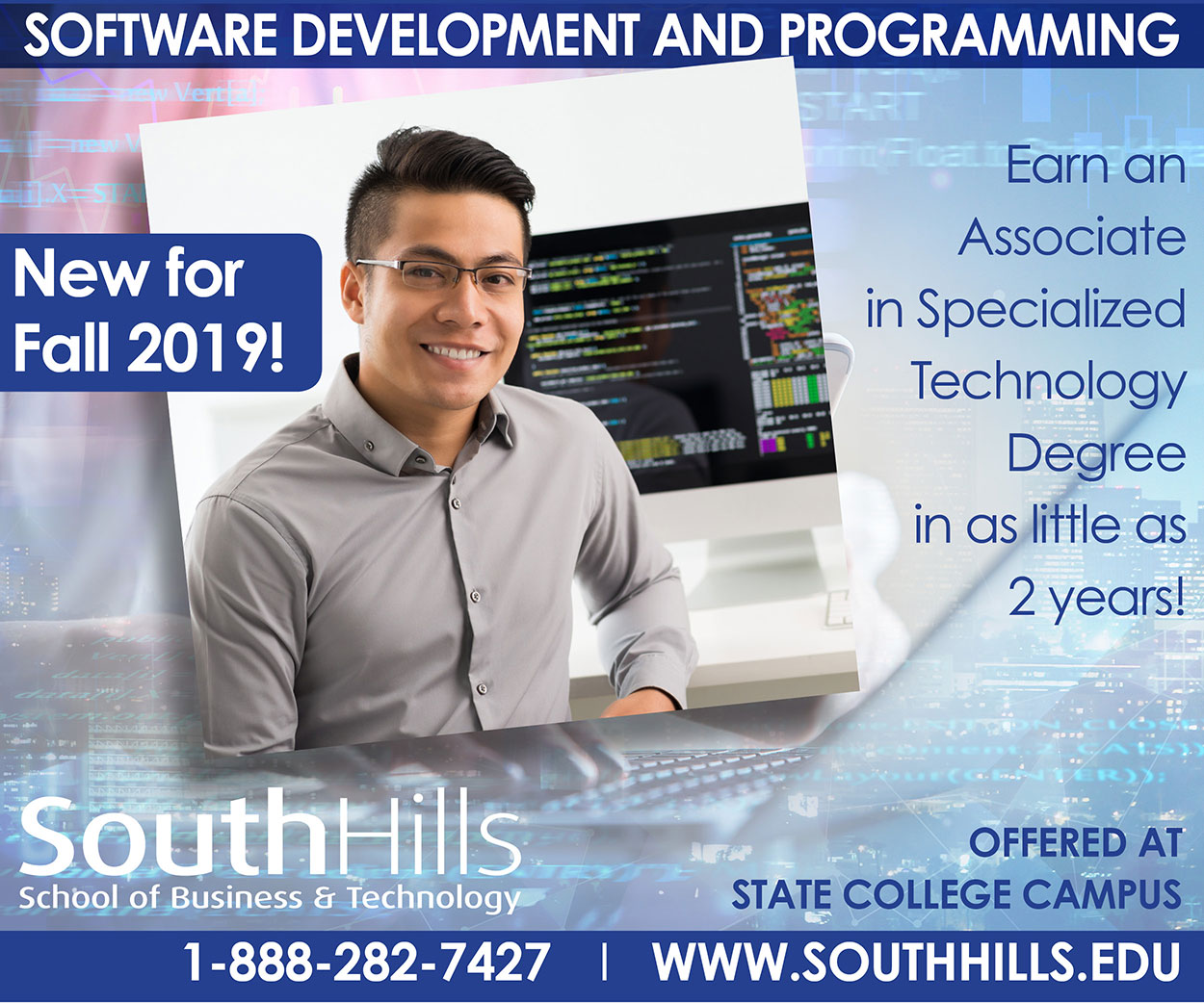 South Hills Announces New Software Development & Programming Associate in Specialized Technology