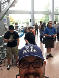 This photo shows Lewistown students at HackPSU