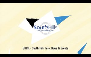 This is a video showing a preview of the South Hills newsletter