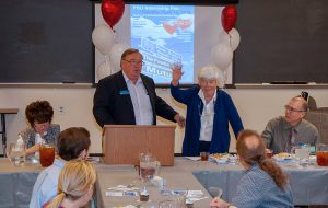 Maralyn J. Mazza, Co-Founder of South Hills, is introduced by Community Outreach Director Jeff Stachowski as they participate in PSU Days - Part II.