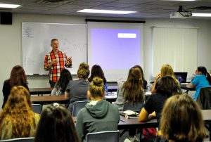 Sal LaRusso speaking to Diagnostic Medical Sonography Students