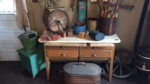 This photo shows antique items