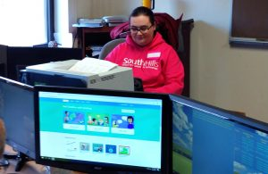 Winter Gerlach, South Hills IT student, taught a class on Scratch and Python.