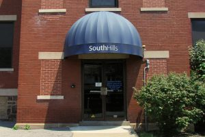 This photo shows the South Hills Altoona building