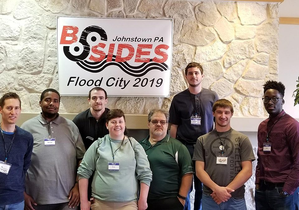 IT students from the Altoona Campus of South Hills at BSides Flood City 2019