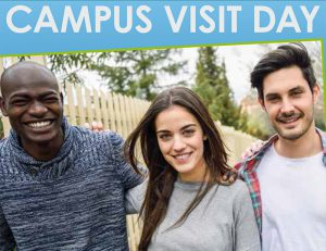 This photo shows the campus visit day poster