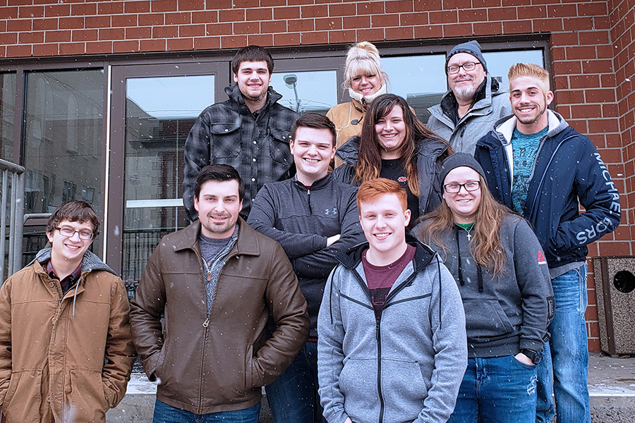 Criminal Justice students are pictured outside the Mifflin County Correctional Facility.
