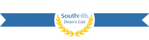 This photo shows a South Hills Dean's List Ribbon