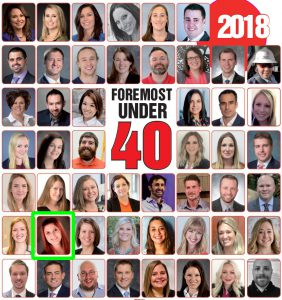 This photo shows the Pennsylvania Business Central 2018 Foremost Under 40 List