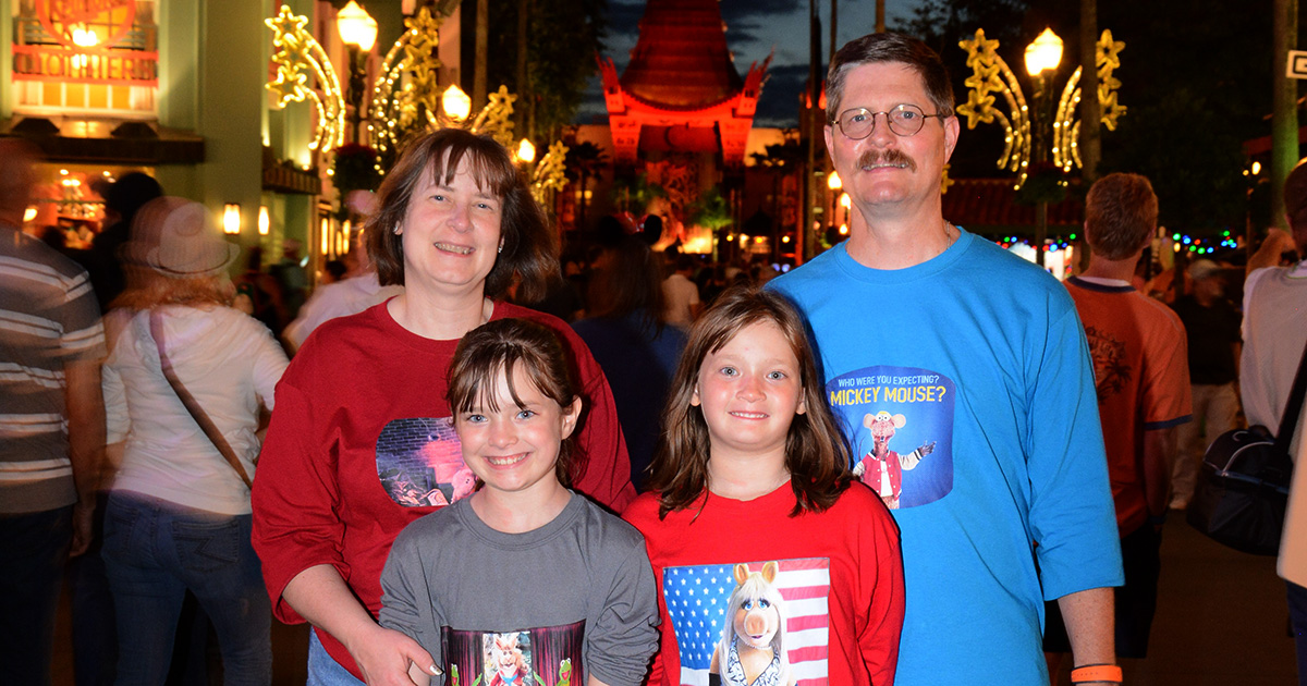 The Gentzel family at Disney