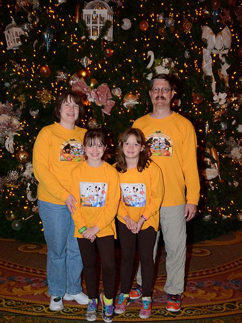 The Gentzel family at Disney