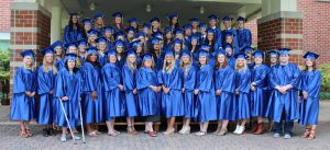 This photo shows the graduating class of 2017
