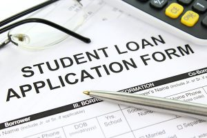 Photo of a Student Loan Application